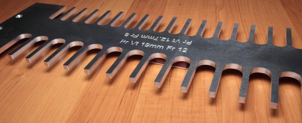 Шаблон для шипов прямой шип